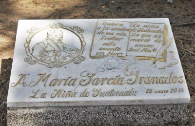 tumba de la niña de guatemala