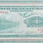 Historia del billete de 1 quetzal