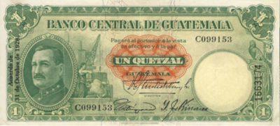 billete antiguo 1 quetzal