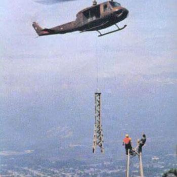 construccion torres teleférico