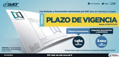 vigencia facturas sat guatemala