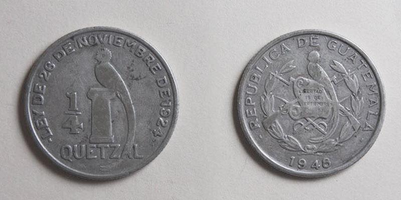 historia de la moneda de 1 quetzal