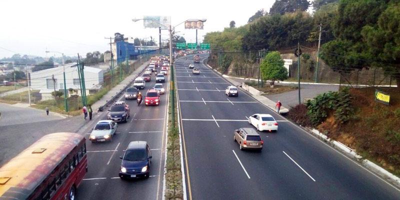 Horarios de los carriles reversibles de la Ciudad de Guatemala