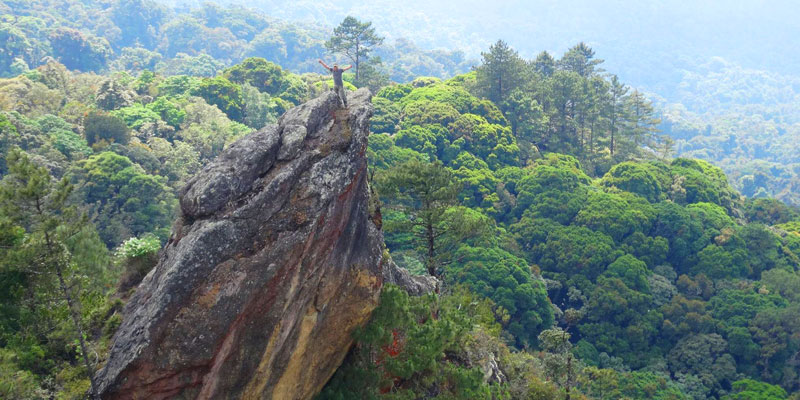La Peña del Ángel en la Sierra de las Minas