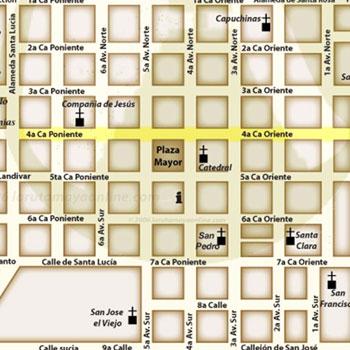 mapa antigua guatemala