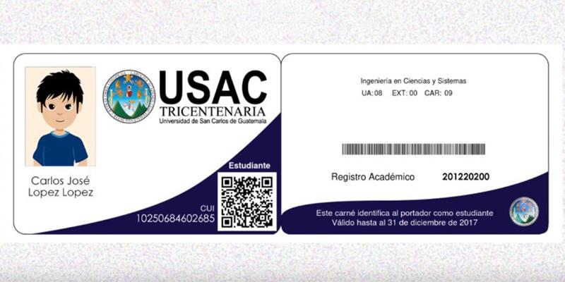 Pasos para generar el carné de la USAC