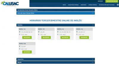 Requisitos para CALUSAC en línea