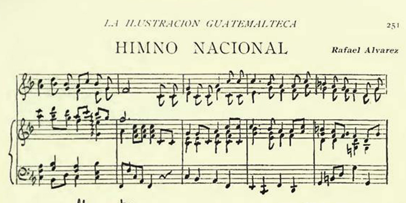 El primer Himno Nacional de Guatemala