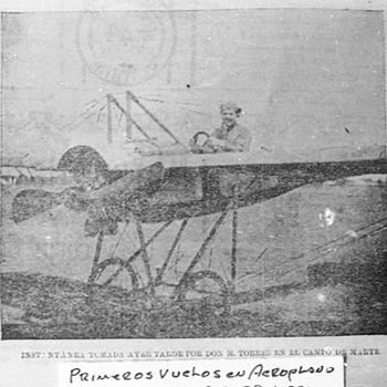 El primer vuelo de avión en Guatemala