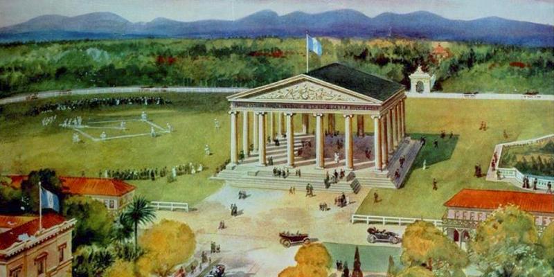 Parque Minerva en la ciudad de Guatemala