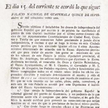 ¿Quiénes firmaron el acta de Independencia de Guatemala?