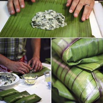 Receta para hacer bollos de chaya guatemaltecos