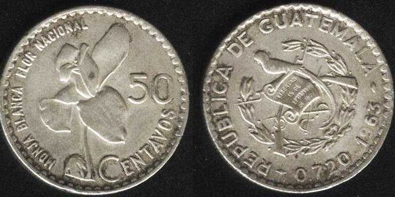 Historia de la moneda de 50 centavos de quetzal en Guatemala