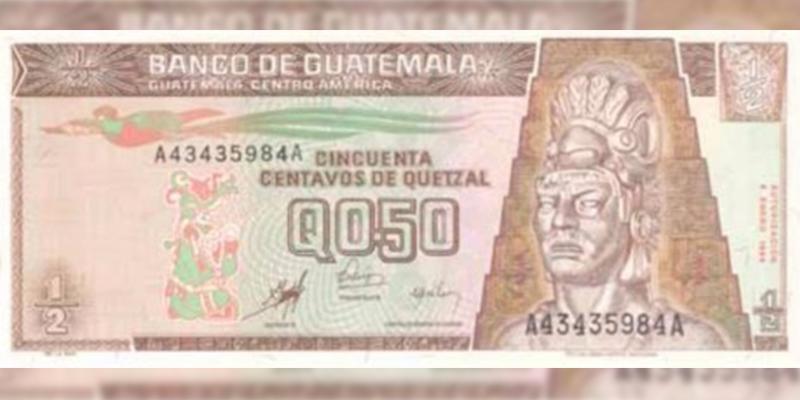Historia del billete de 50 centavos de quetzal en Guatemala