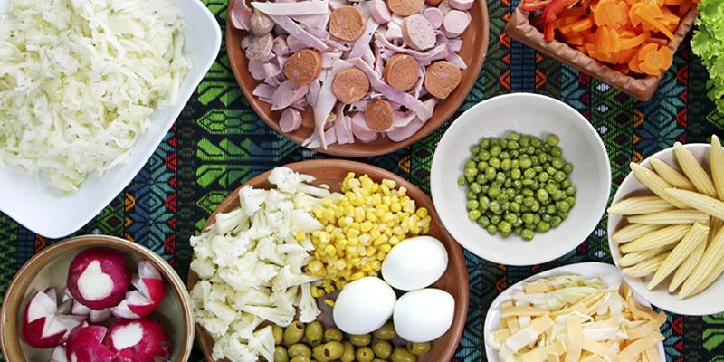 Receta para hacer fiambre blanco de Guatemala