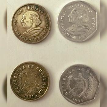Historia de la moneda de 1 centavo de quetzal en Guatemala