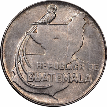 Historia de la moneda de 25 centavos de quetzal en Guatemala
