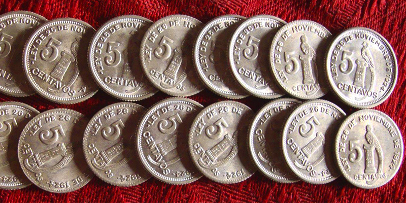 Historia de la moneda de 5 centavos de quetzal en Guatemala