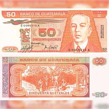 Historia del billete de 50 quetzales en Guatemala