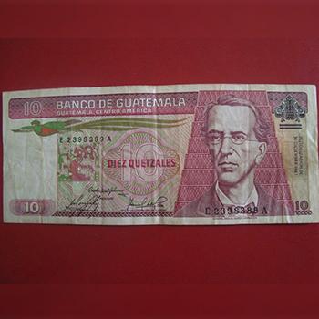 Personajes en los billetes de Guatemala