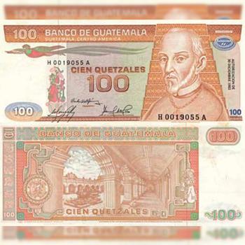 Historia del billete de 100 quetzales de Guatemala