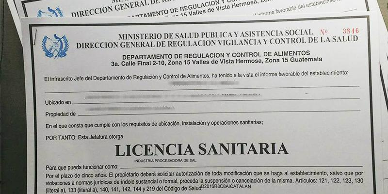 Tramitar licencia sanitaria de fábricas o empacadoras de alimentos en Guatemala