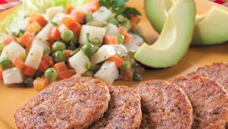 Tortitas de Carne Toledo para los 3 tiempos de comida