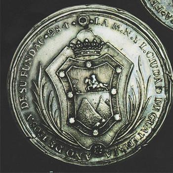 Escudo de armas de la ciudad de Guatemala y Antigua Guatemala
