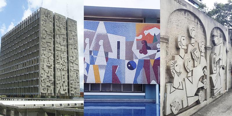 Murales del Centro Cívico de la Ciudad de Guatemala