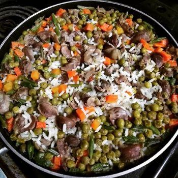 arroz con mollejas