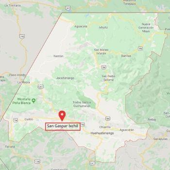 san gaspar ixchil huehuetenango mapa
