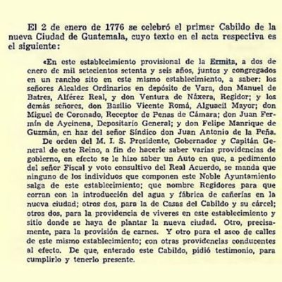 traslados ciudad de guatemala acta primer cabildo