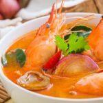Receta de la sopa de camarones de Izabal