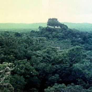 templo IV o de la serpiente bicéfala en 1961