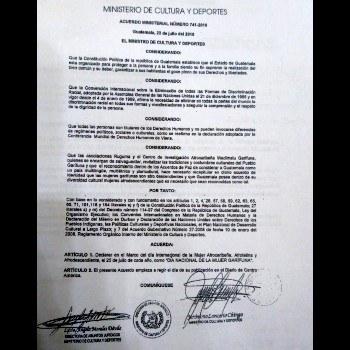 dia-nacional-mujer-garifuna-guatemala-acuerdo-ministerial-741-2010-ministerio-cultura-deportes