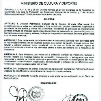 maiz-patrimonio-cultural-nacion-guatemala-acuerdo-ministerial