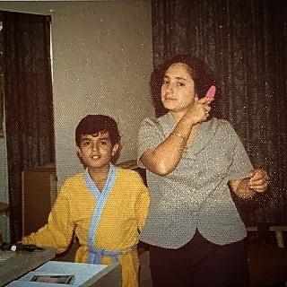 1976, Guillermo Monsanto y su mamá