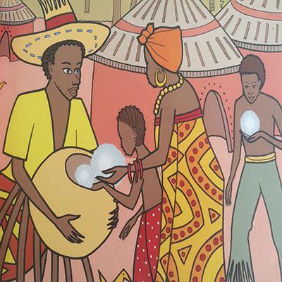 Anansí, ayudando a la población, Cuentos AfroCribeños