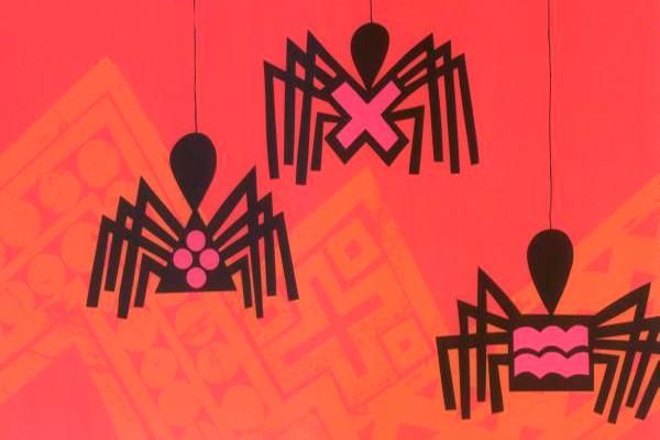 Anansí, dios araña, e hijos foto - libro de fábulas de México ilustrado