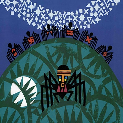 Anansí, el dios araña, foto libro de la fábula de anansí y sus hijos