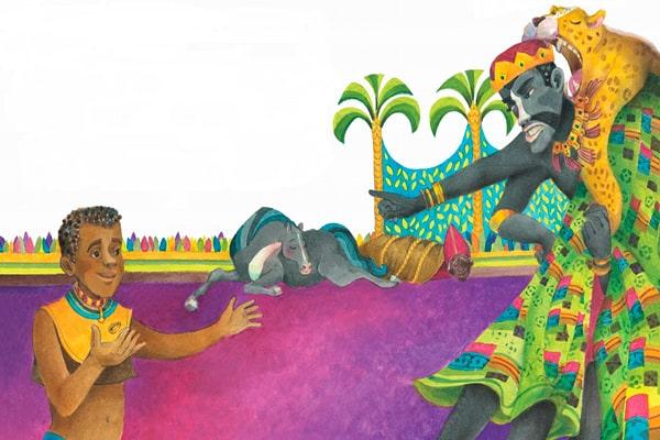 Bra Ansí y los animales, libro ilustrado, Ruth Ángulo Cruz, humanos