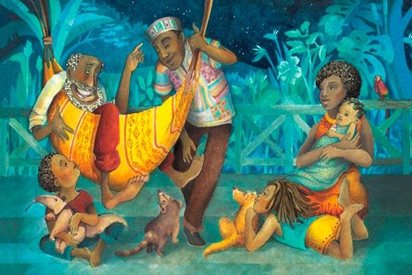 Bra Ansí y los animales, libro ilustrado, Ruth Ángulo Cruz