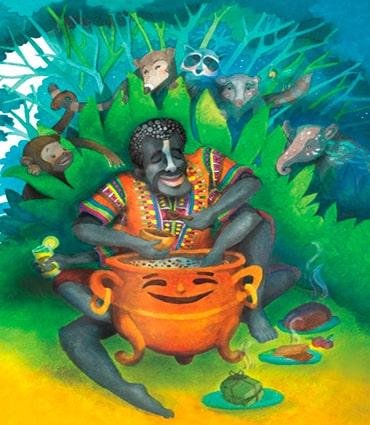 ra Ansí y los animales, libro ilustrado