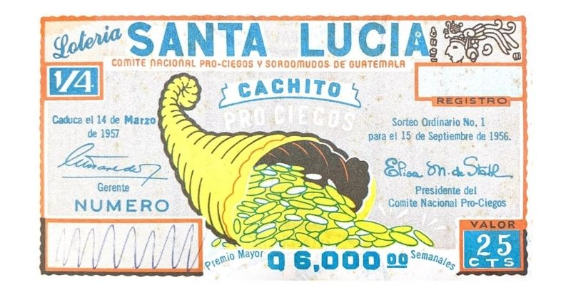 Cachito de Santa Lucía, lotería