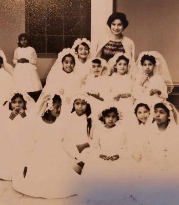 Carmen María y sus alumnas