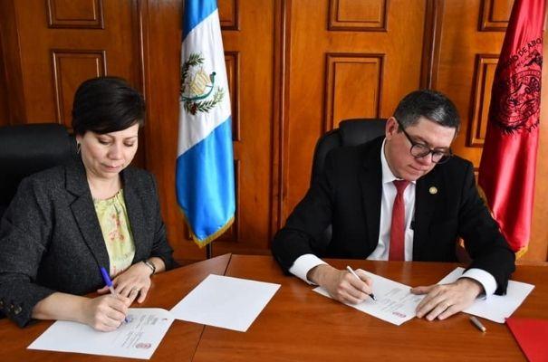 Colegio de abogados y notarios en firma