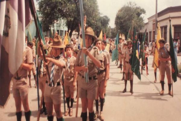 Desfile Scout, 1986-87, Foto Grupo Scout no 7 Guatemala