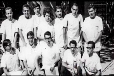 Estudiantes en el primer EPS 1978