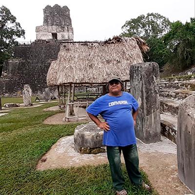 elipe Quixchán, en Tikal, foto - Edwin Román-Ramírez
