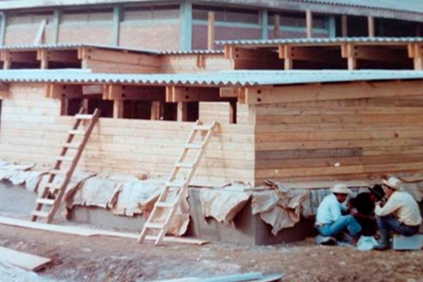 Foto de la construcción del Museo Santiago, Guatemala